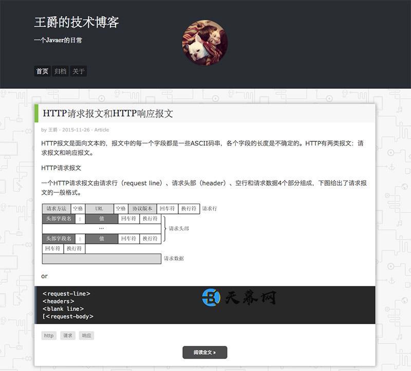 Typecho免费主题TERSE 技术型博客模板 未分类 第1张