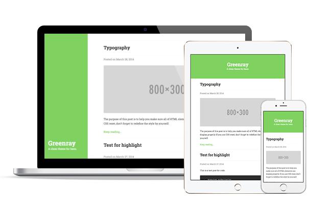 Typecho免费主题GreenRay 绿色简洁风格 未分类 第1张