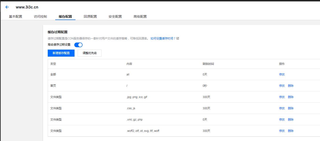 wordpress腾讯CDN缓存文件设置技巧